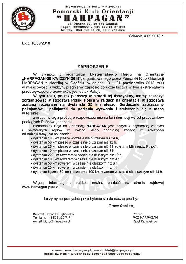 Zaproszenie Na Pierwsze Mistrzostwa Polski Policji W Rajdach Na