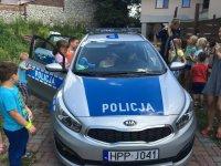 Policjanci na półkolonii w Akademii Pana Kleksa
